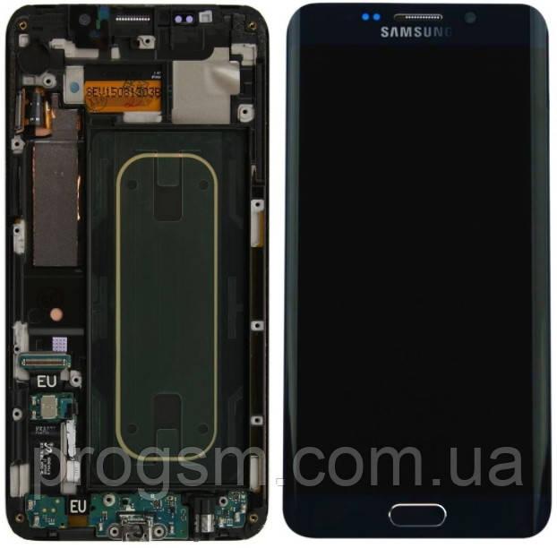 Дисплей Samsung Galaxy S6 EDGE Plus / G928F Super Amoled with frame Blue