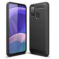 Чехол Fiji Polished Carbon для Samsung Galaxy M30s (M307) ТПУ бампер черный