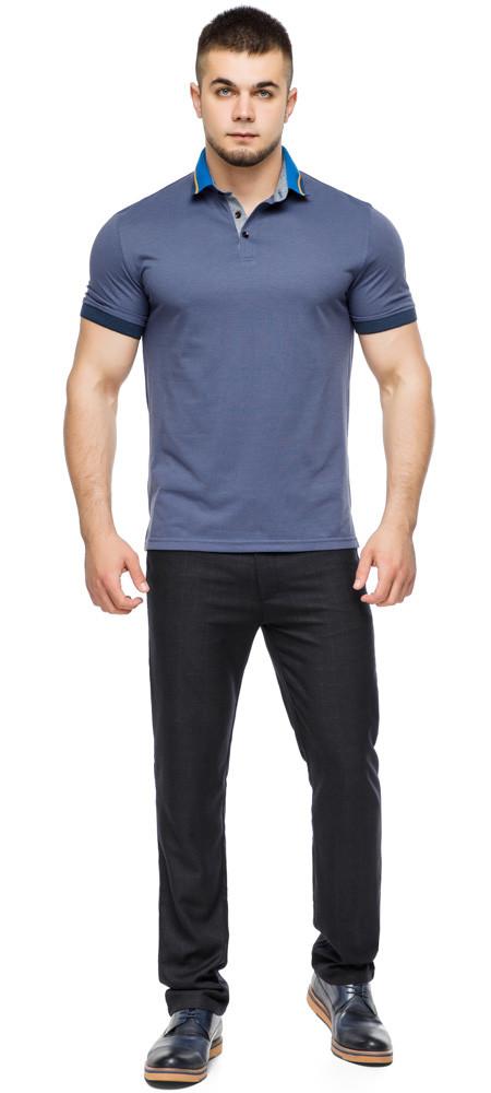 Трендова футболка поло чоловіча колір джинс модель 6285