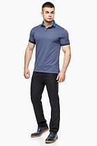 Трендова футболка поло чоловіча колір джинс модель 6285, фото 2