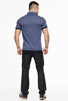 Трендова футболка поло чоловіча колір джинс модель 6285, фото 3