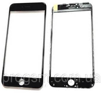 Стекло дисплея (для переклейки) iPhone 6 Plus (5.5) Black с рамкой
