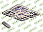 Светодиодная люстра S8157/4GR LED 3color dimmer (Серый) 85W, фото 3