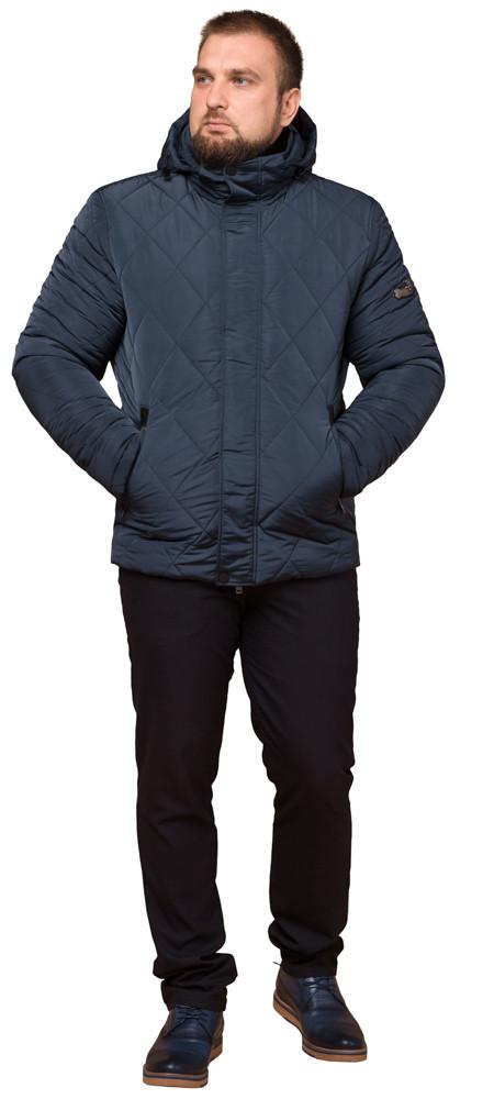Светло-синяя зимняя теплая куртка для мужчин модель 19121