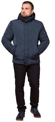Светло-синяя зимняя теплая куртка для мужчин модель 19121, фото 2