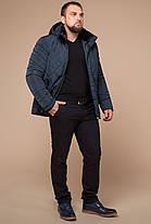 Светло-синяя зимняя теплая куртка для мужчин модель 19121, фото 3