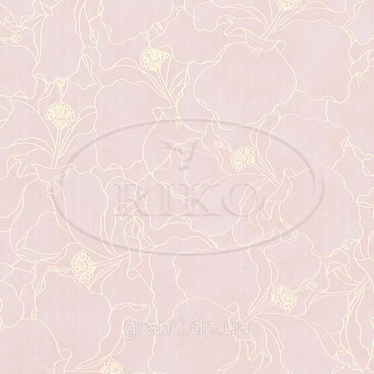 Пластиковые декоративные панели ПВХ Рико(Riko) 250*7*3000мм орхидея оранжевая  с Термопереводом бесшовные