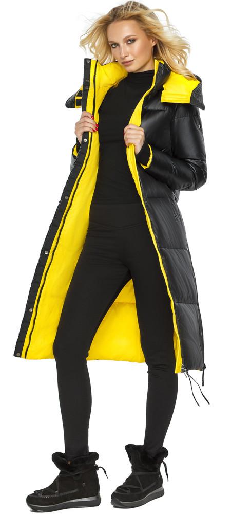 Чорна жіноча Куртка на зиму тепла модель 42650 48 (M)