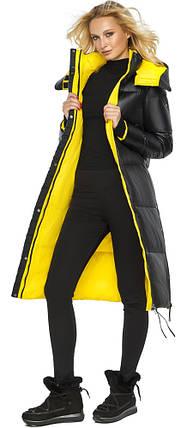 Чорна жіноча Куртка на зиму тепла модель 42650 48 (M), фото 2