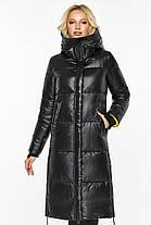 Чорна жіноча Куртка на зиму тепла модель 42650 48 (M), фото 3