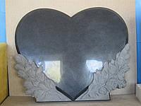 Памятник элитный Сердце с розами