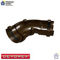 Угол желоба универсальный 60-160 градусов Devorex Classic 120 Коричневый