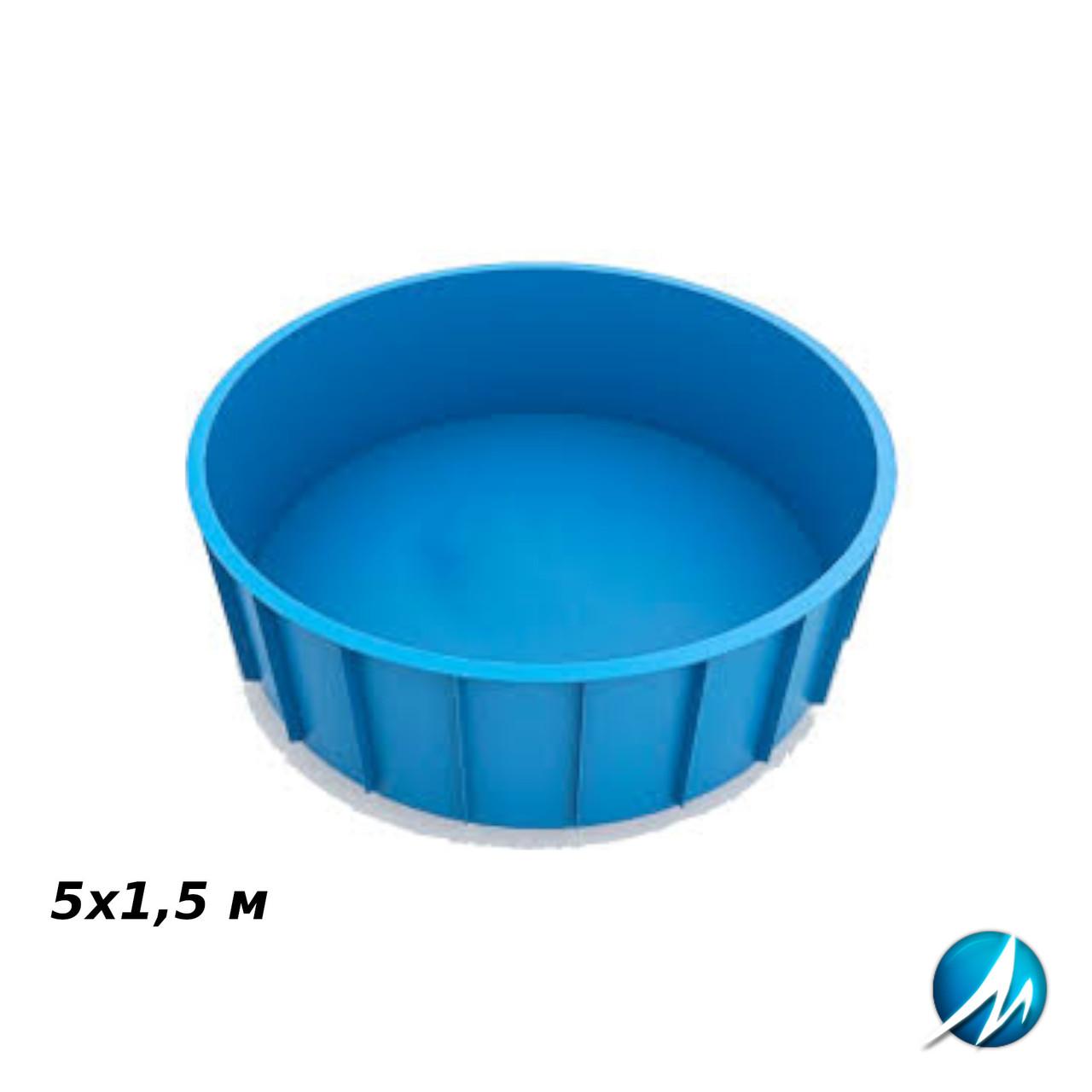 Поліпропіленовий круглий басейн 5х1,5 м