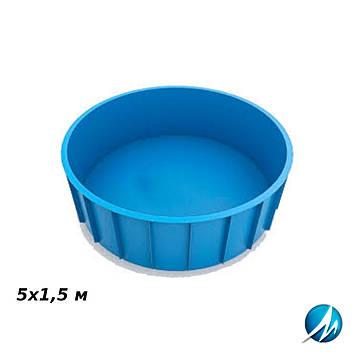 Полипропиленовый круглый бассейн 5х1,5 м