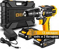 Аккумуляторный шуруповёрт Deko DKCD12FU-LI 12 В + 2 АКБ в кейсе + 13 насадок