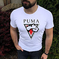 Чоловіча футболка з принтом і логотипом