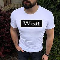 Чоловіча футболка з написом WOLF (Вовк)