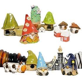 Свічники керамічні Будиночок Гнома