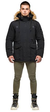 Чорна парку чоловіча молодіжна зимова модель 25770 48 (M), фото 2