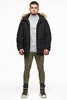 Чорна парку чоловіча молодіжна зимова модель 25770 48 (M), фото 3