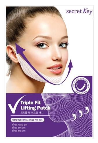 Лифтинг-маска с лавандой для V-зоны Secret Key Triple Fit Lifting Patch 1 шт