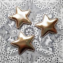 Патчи звездочки золотые из эко-кожи d - 5 см. 2.5 грн  от 10 шт