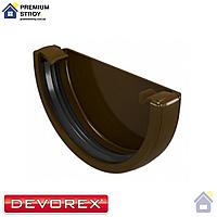 Заглушка желоба Devorex Classic 120 Коричневый