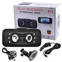 """Автомобильный видеорегистратор F11, LCD 2.7"""", Original, Dual optics, 1080P Full HD, фото 1"""