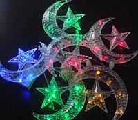 Гирлянда оригинальная новогодняя «Луна и звезды», разноцветное свечение, вариации мерцания