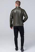 Куртка молодіжна осінньо-весняна чоловіча кольору хакі модель 4327, фото 3
