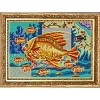 """Схема для вышивки бисером """"Богатство (9 рыбок)"""""""