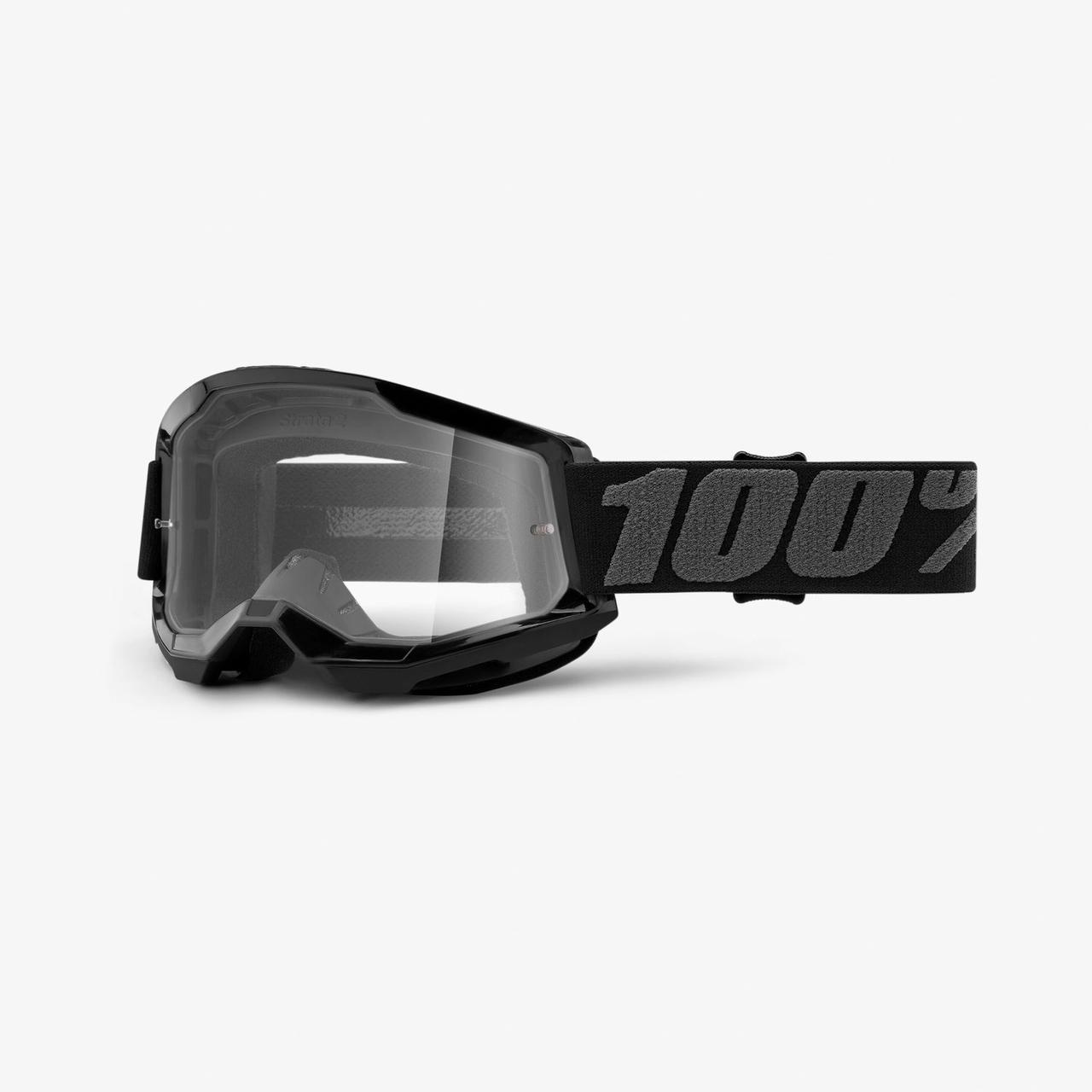 Мотоочки 100% STRATA Goggle II Black - Clear Lens