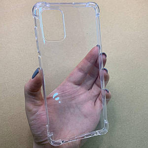 Чехол для Samsung Galaxy A71 противоударный с бронь углами накладка чехол на самсунг а71 прозрачный