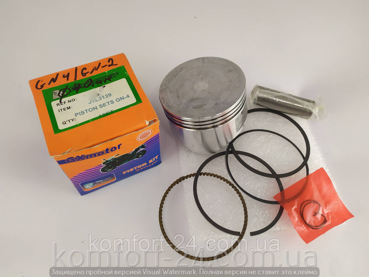 Поршневий комплект до двигуна мотоблока GN-4 GN2 70мм(170F)