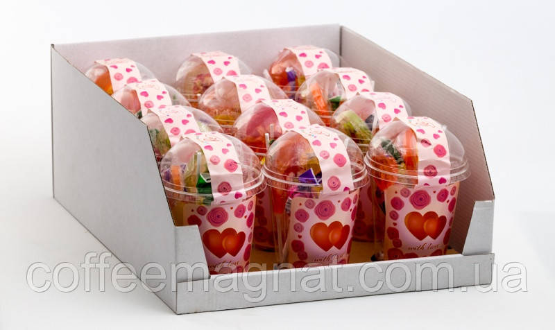 Льодяники на паличці асорті Стакан With Love, 150 г