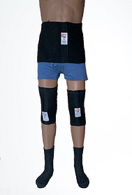 Согревающий комплект-тройка  Nebat  (толстый пояс+ наколенники  + носки) СП3