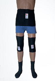 Зігріваючий комплект-трійка Nebat (товстий пояс+ наколінники + шкарпетки) СП3