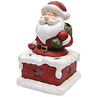 Фигурка сувенирная Дед Мороз на трубе с мешком (011728)