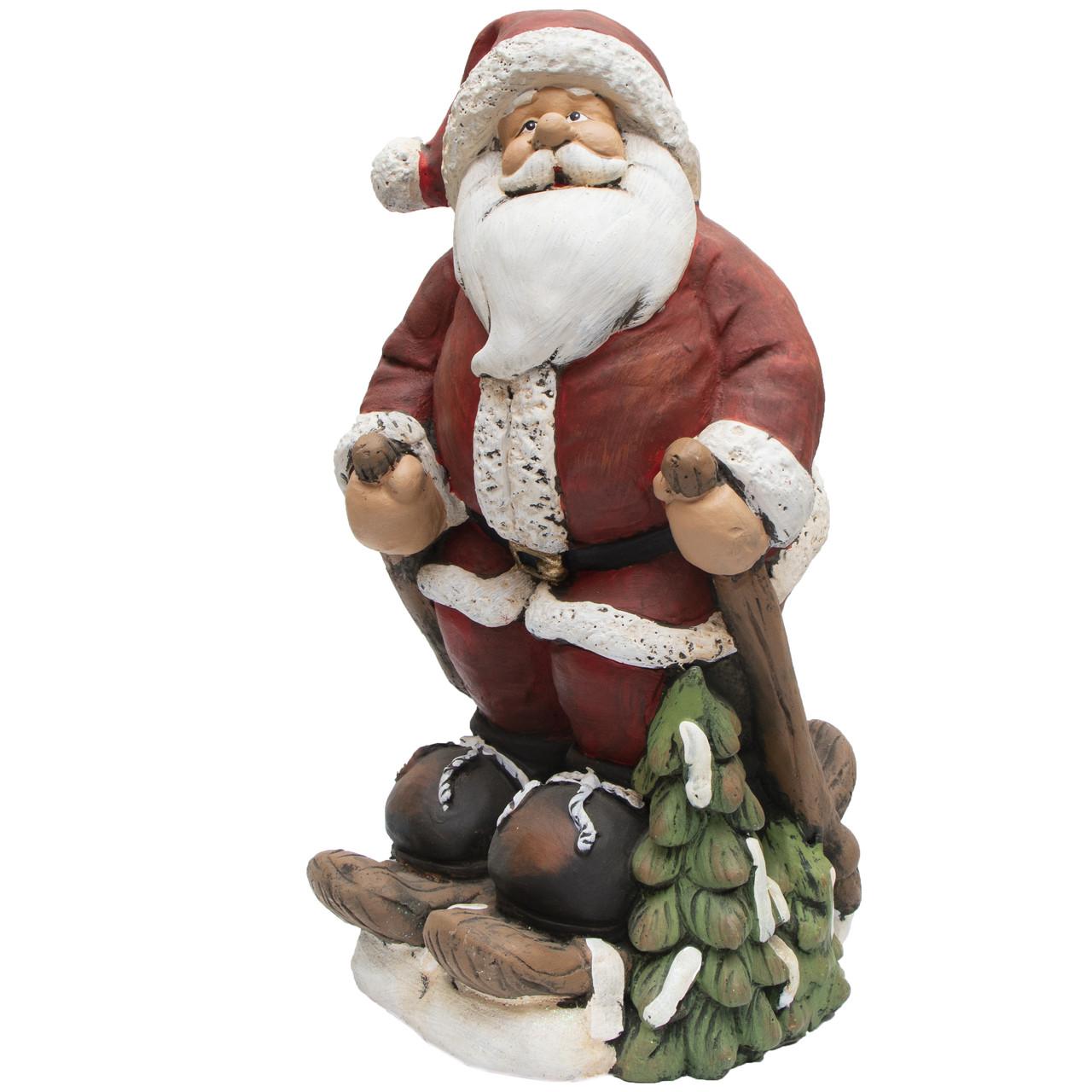 Декоративная фигурка - Дед Мороз, 27*23*46 см, красный с белым, полистоун (441358)