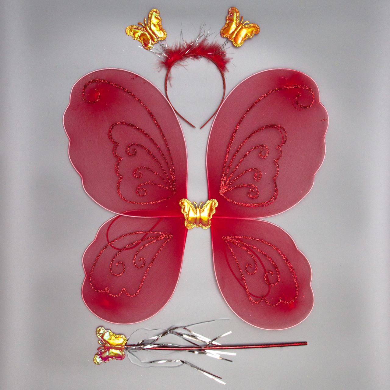 Карнавальний набір - метелик, 46*38 см, червоний (HLJ170419-18-2)