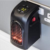 Портативный обогреватель Handy Heater, обогревательная электрическая дуйка, мини электрообогреватель, черный.