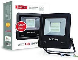 Прожектор 50Вт 5000К Maxus 1-MAX-01-LFL-5050