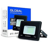 Прожектор 20Вт 6000К Global 1-GBL-02-LFL-2060