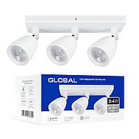 Світильник спотовий 12Вт 4100К Global 3-GSL-11241-SW
