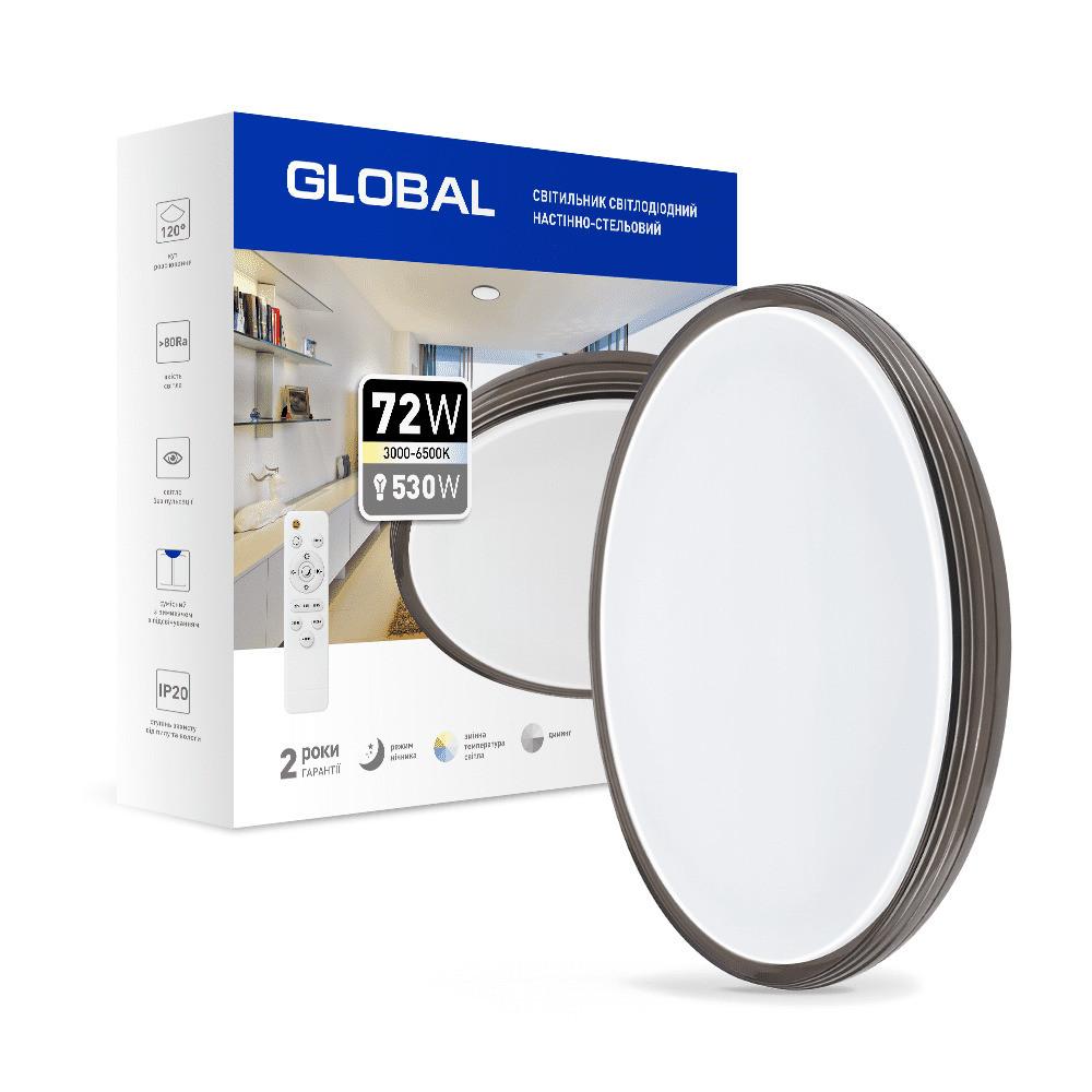 Світильник функціональний 72Вт 3000-6500К Global 1-GFN-72TW-02-C