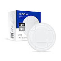 Светильник накладной 15Вт 5000К Global 1-GBH-03-1550-C