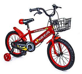 """Велосипед детский 16 """"Scale Sports"""" T13 ручной и дисковый тормоз Red Детский двухколесный велосипед"""