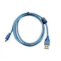 Кабель для всех помещений Blue USB, AM, 5p, 2.0, 1.5м, ПВХ, кабель, кабель для устройств, фото 1