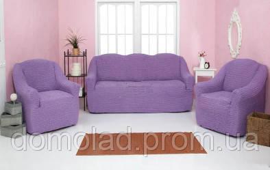 Комплект Чохлів На Тримісний Диван І 2 Крісла Без Оборки Модель 217