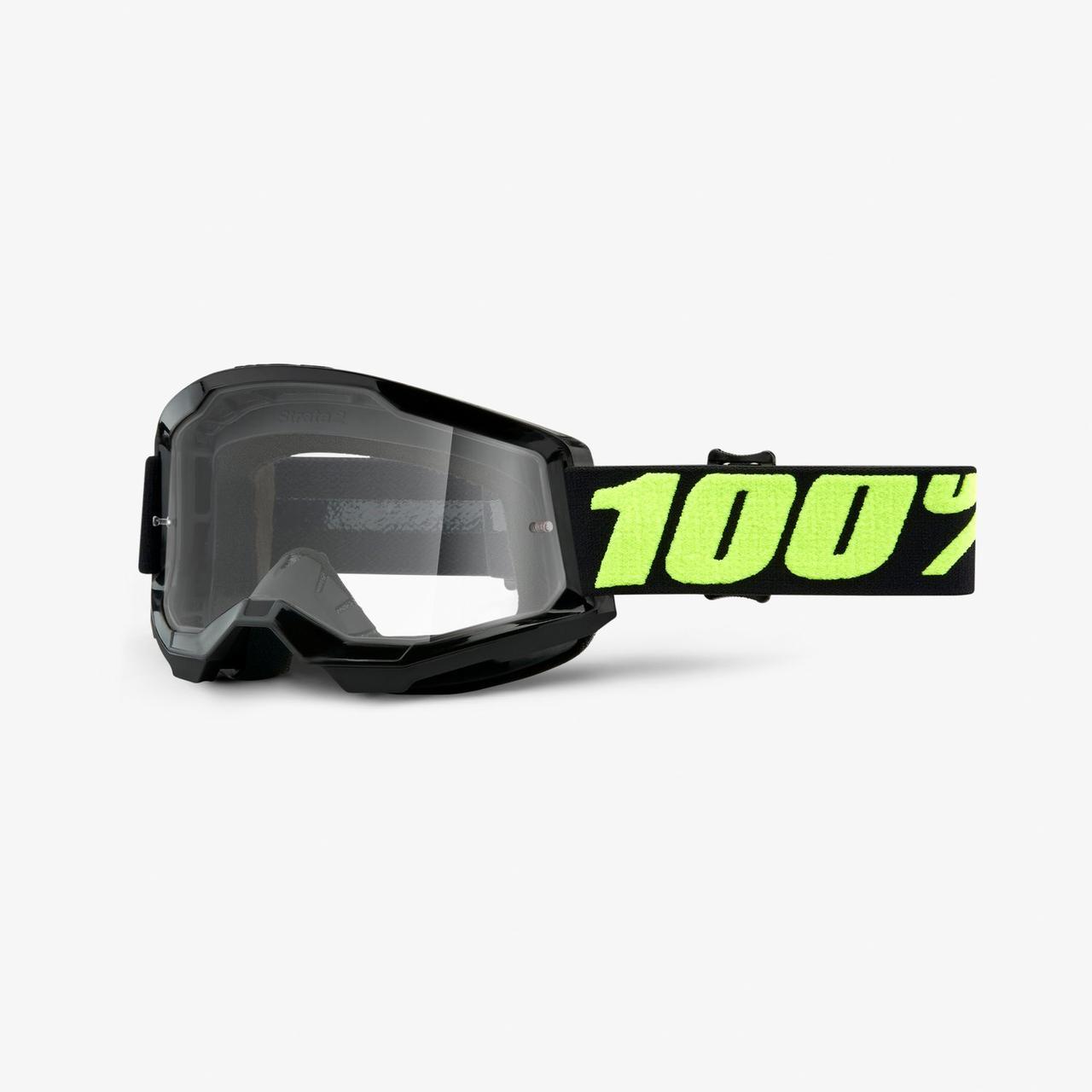 Мото окуляри 100% STRATA Goggle II Upsol - Clear Lens